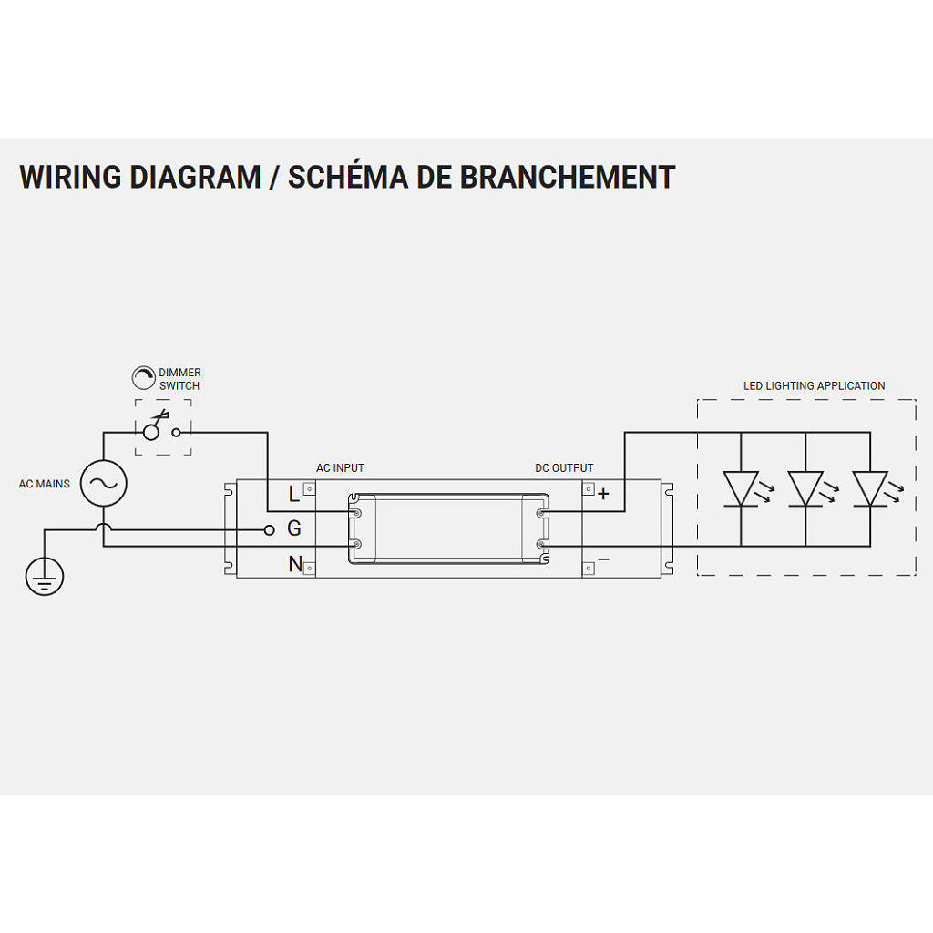 Led Dimmable Hardwire 12v 30141225 Kitchen Showroom Dc Dimmer Switch Wiring Diagram Line Art